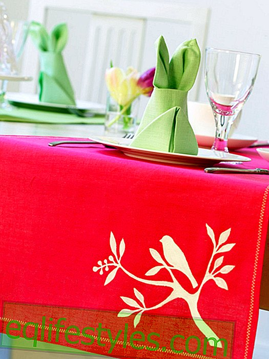 DIY instructions for Easter tablecloth