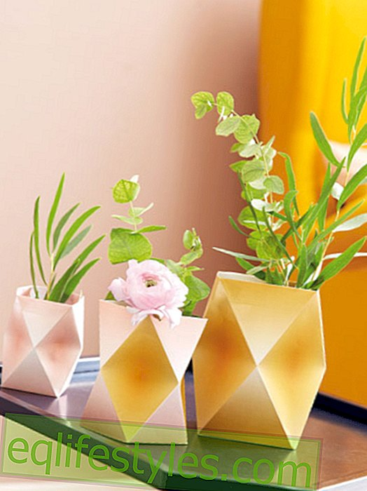 Our gift for you: geometric paper vases