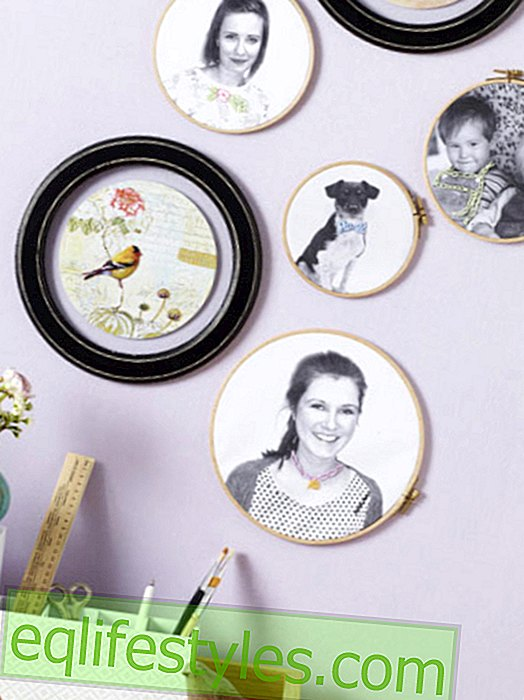 How to transform your hoop into picture frames