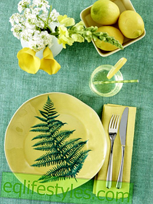 DIY tip: table decoration with lemons