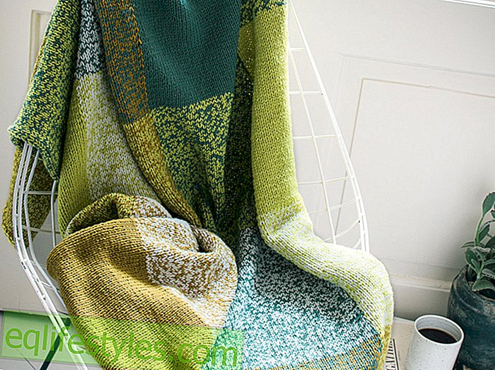 Knitting PatternKnitting colorful checkered blanket