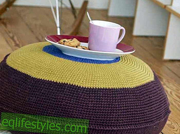 Crochet tutorial: Home decor: This pouf you can easily crochet yourself!
