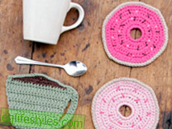 InstructionsCrochet coasters as a cup and donut