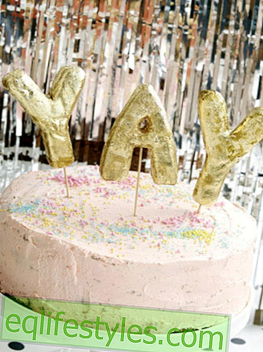 DIY Ideas with Glitter Magical New Year's Eve Decorations in Pink and Gold