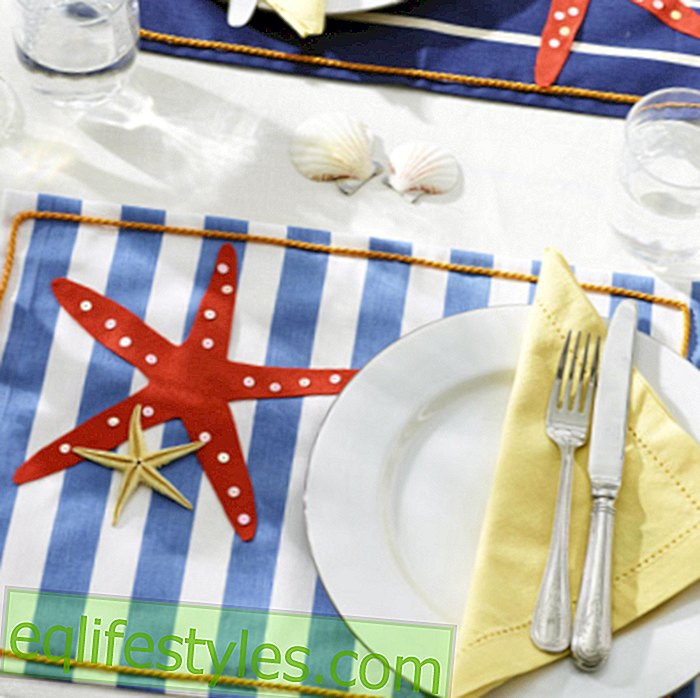 live - Step by step: Make a maritime placemat