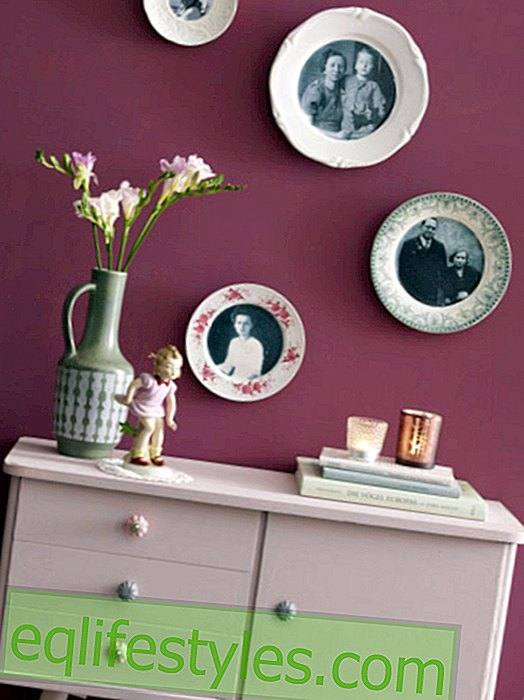 It's that easy: decorate wall plates with photos
