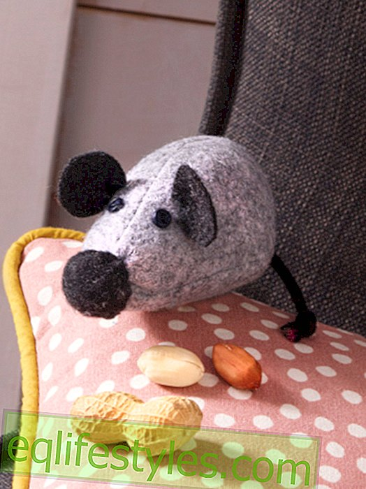 DIY: sewing instructions for a mouse made of felt