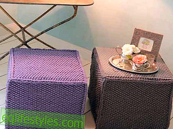 Knitting InstructionsKnitting for stool or side table knitting yourself