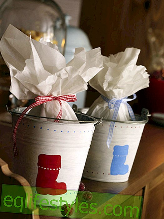 Nikolaus: Bucket of painted boots