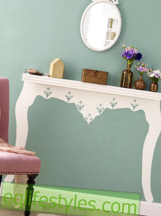 With template: instructions for console table