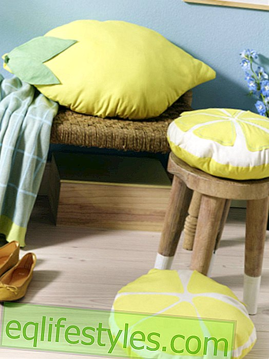 Free sewing instructions for lemon cushions