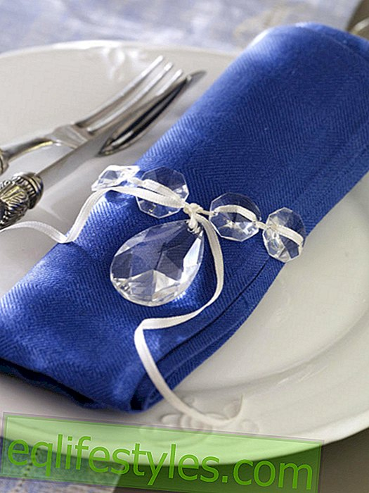live - Napkin ring made of glass prisms