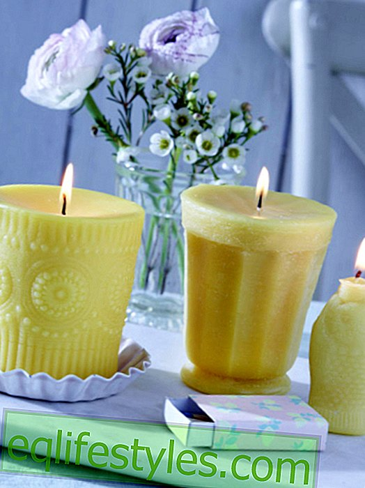 It's so easy: candles with silicone print