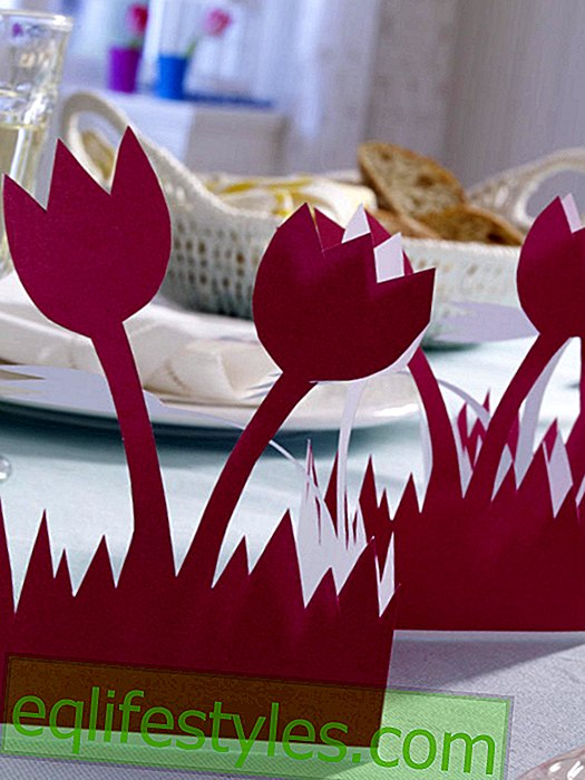 Tulip Fold garland for the table