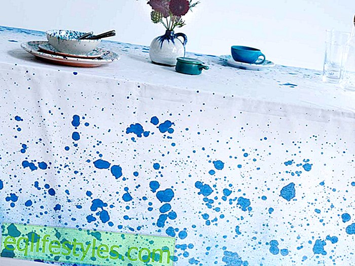 Instructions Speckled tablecloth