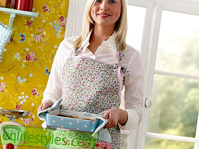 Pretty apron sewing instructions: How to sew this apron yourself