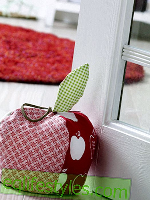 Instructions for a door stopper in apple shape