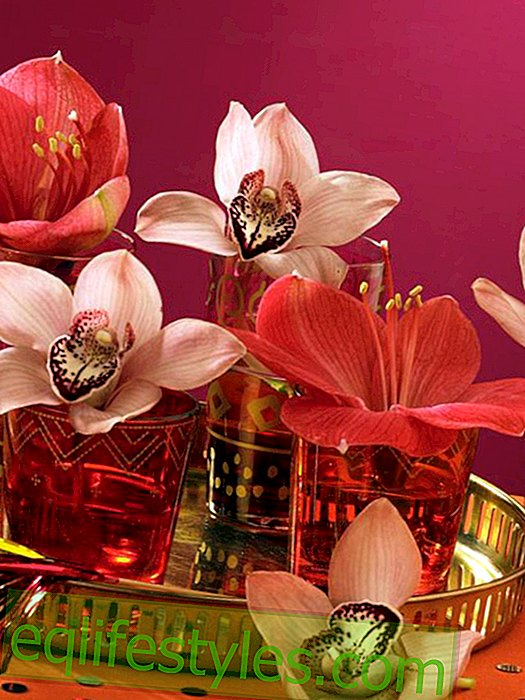 Oriental glasses with flowers