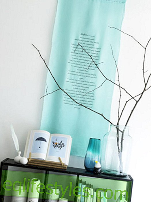 Proverbs: Deco idea with textile printing