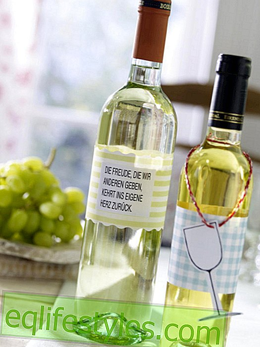 Wine bottles with a new banderole