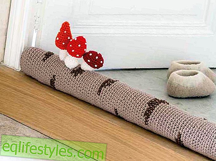 DIY inspiration Crochet pattern for a tree trunk draft stopper