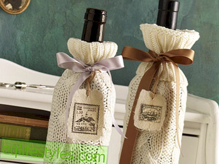 live: Come what wool! Crafting instructions for a decorative bottle cover
