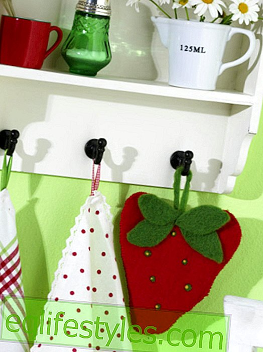 DIY ideas: potholders in the form of strawberries