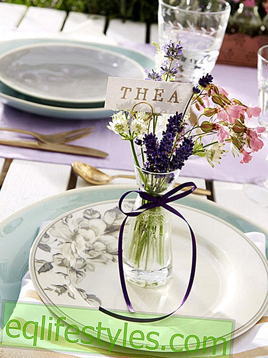 Table decoration with lavender: food as in Provence