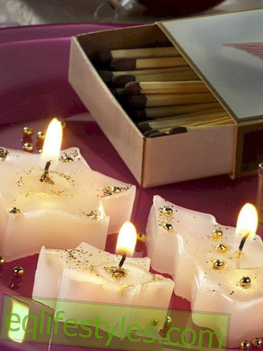 Make candle in star shape yourself