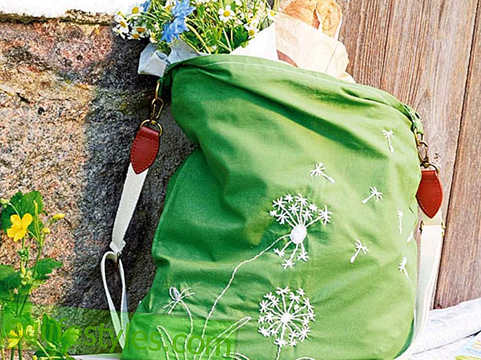 Summery bag sewing instructions: How to knit this summer bag in the meadow look - live - 2018