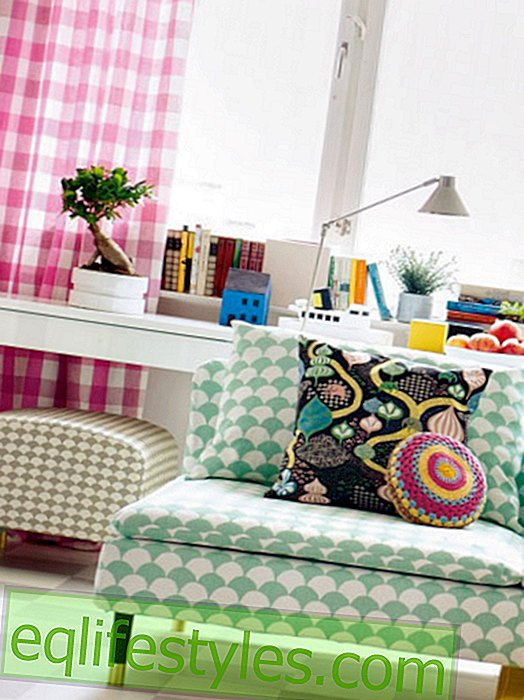 Furnishing ideas in a colorful retro look