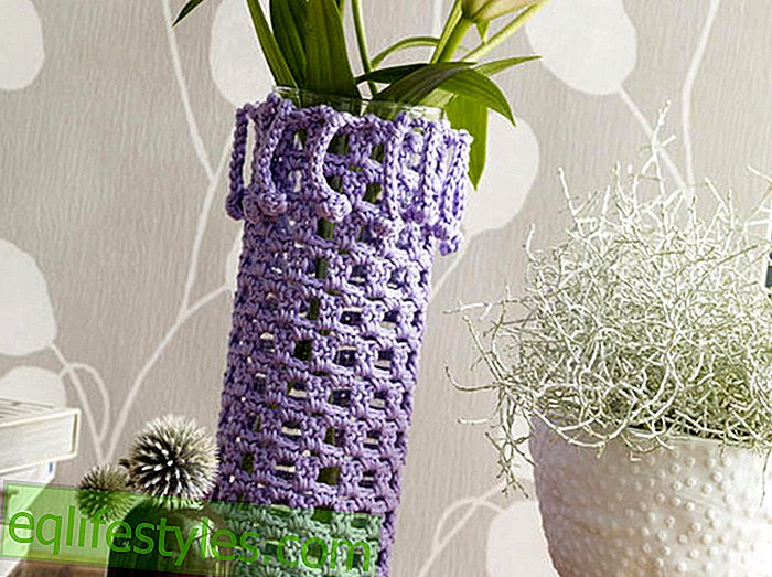 Crochet Tutorial Crocheted Vase Case