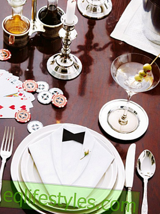Here's how it works: Elegant table decoration in the style of James Bond