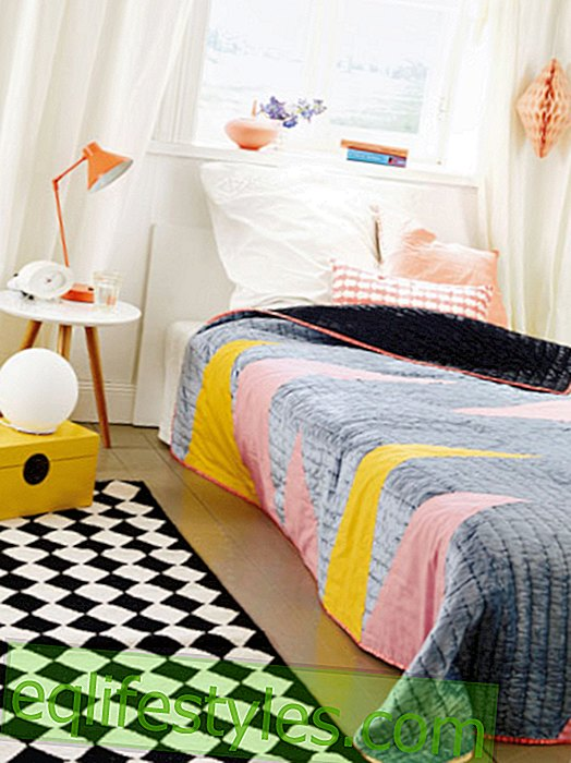 DIY home accessories with zigzag pattern