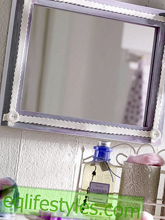 Mirror with modeled edge