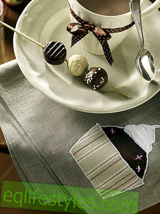 Napkin with muffin application