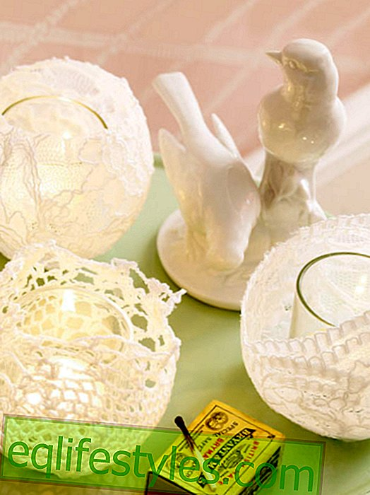 Decoration with lace to make yourself - 6x nostalgia