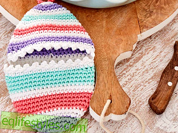 Easter Crochet Crochet Pattern for pot holders in egg shape