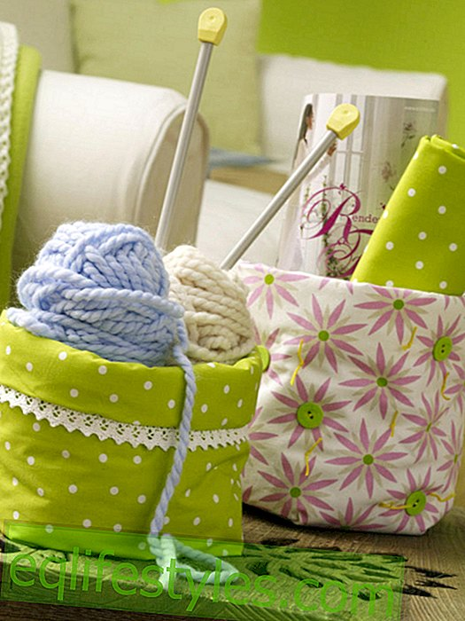DIY idea: cute fabric box