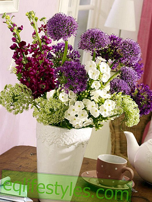 live: Bouquet with Allium and Levkojen