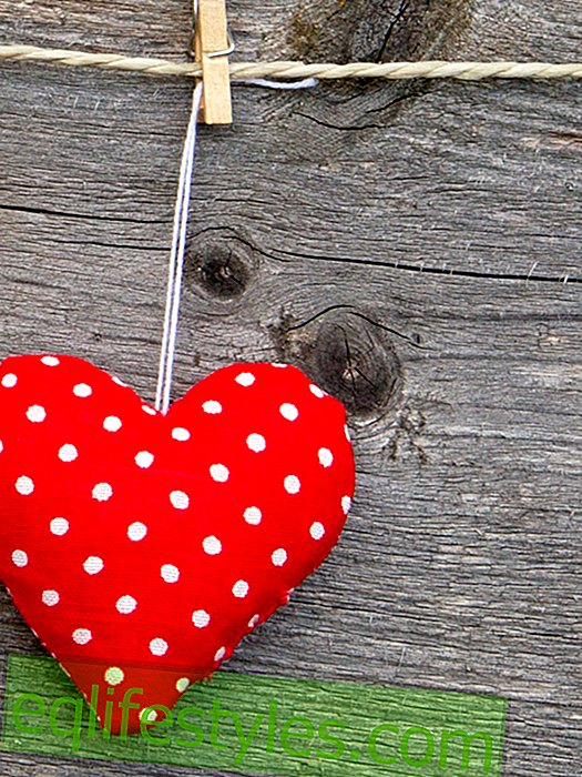 Sew sweet heart pendants from fabric leftovers