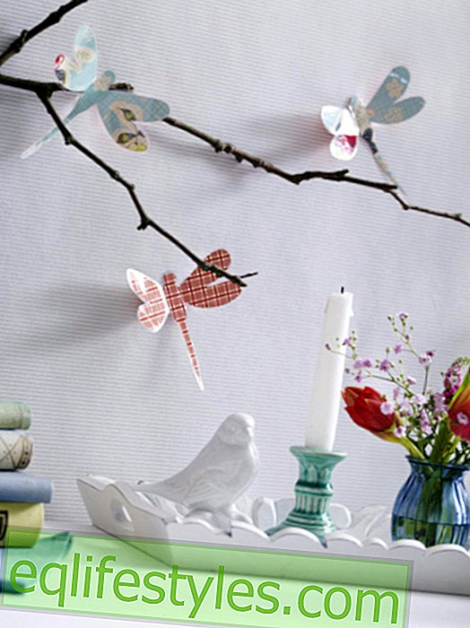 Folding instructions for pretty paper dragonflies