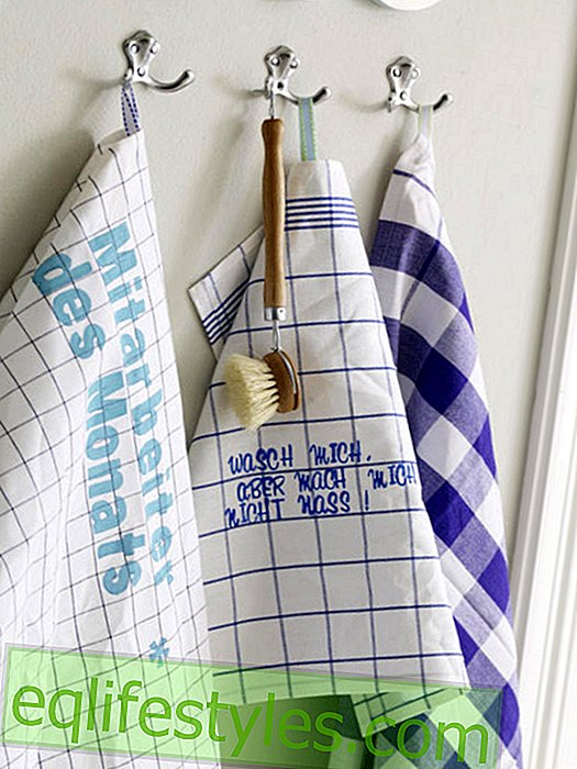 Dishtowels with stamp letters