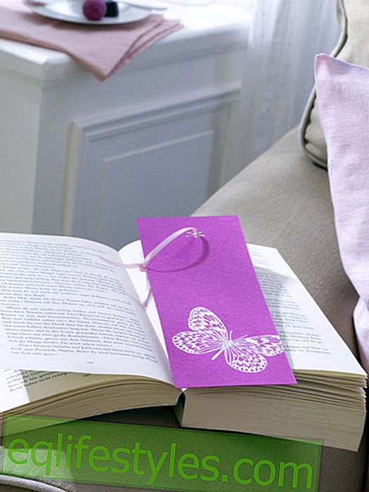 Bookmark with embossing butterfly