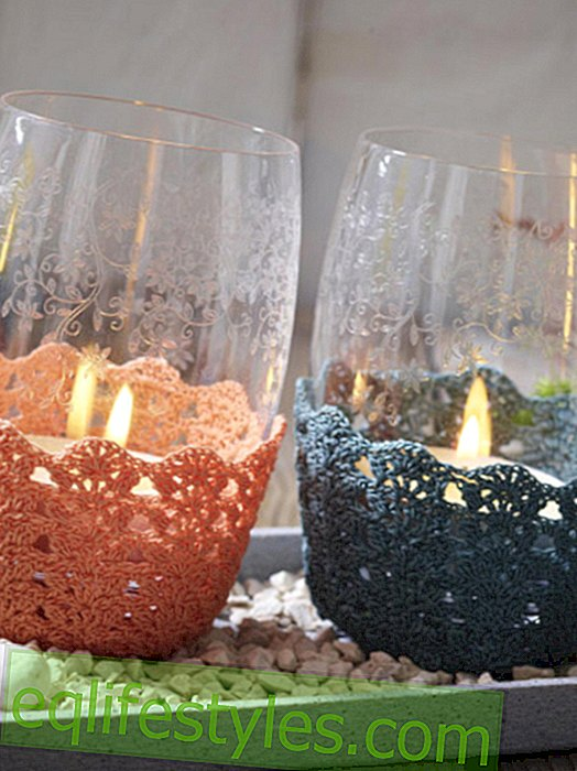 Crochet the tealight wrap yourself: It's that easy