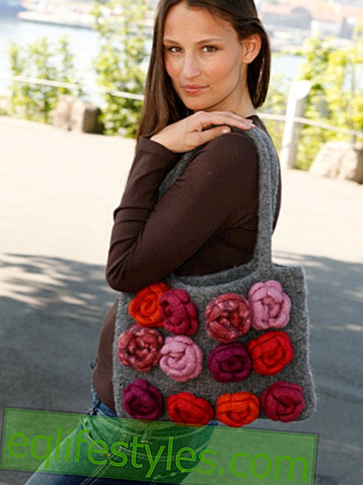 DIY: felted bag with roses