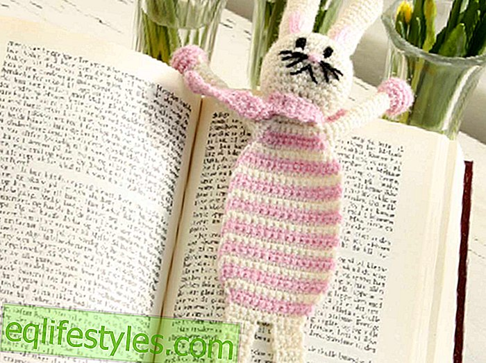 Easter crochet Crochet pattern for a bunny bookmark