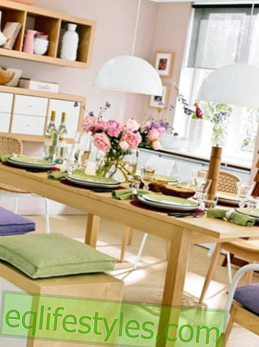 Dining room set up: Three dining spaces in a mix of styles