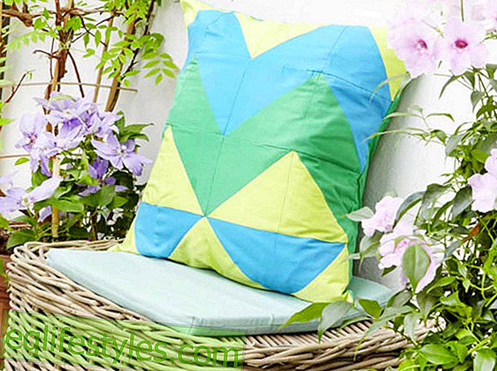 Colorful home sewing instructions for a zigzag pillow case