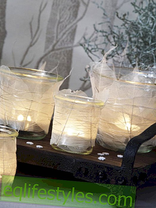 Make winter lanterns yourself
